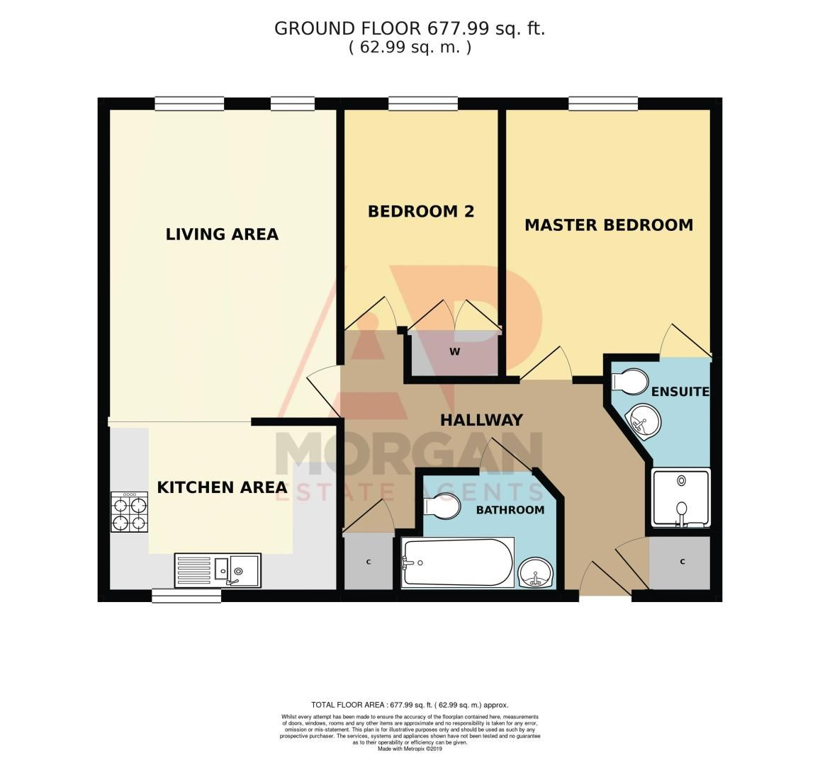 2 bed flat for sale in Camellia Gardens - Property Floorplan