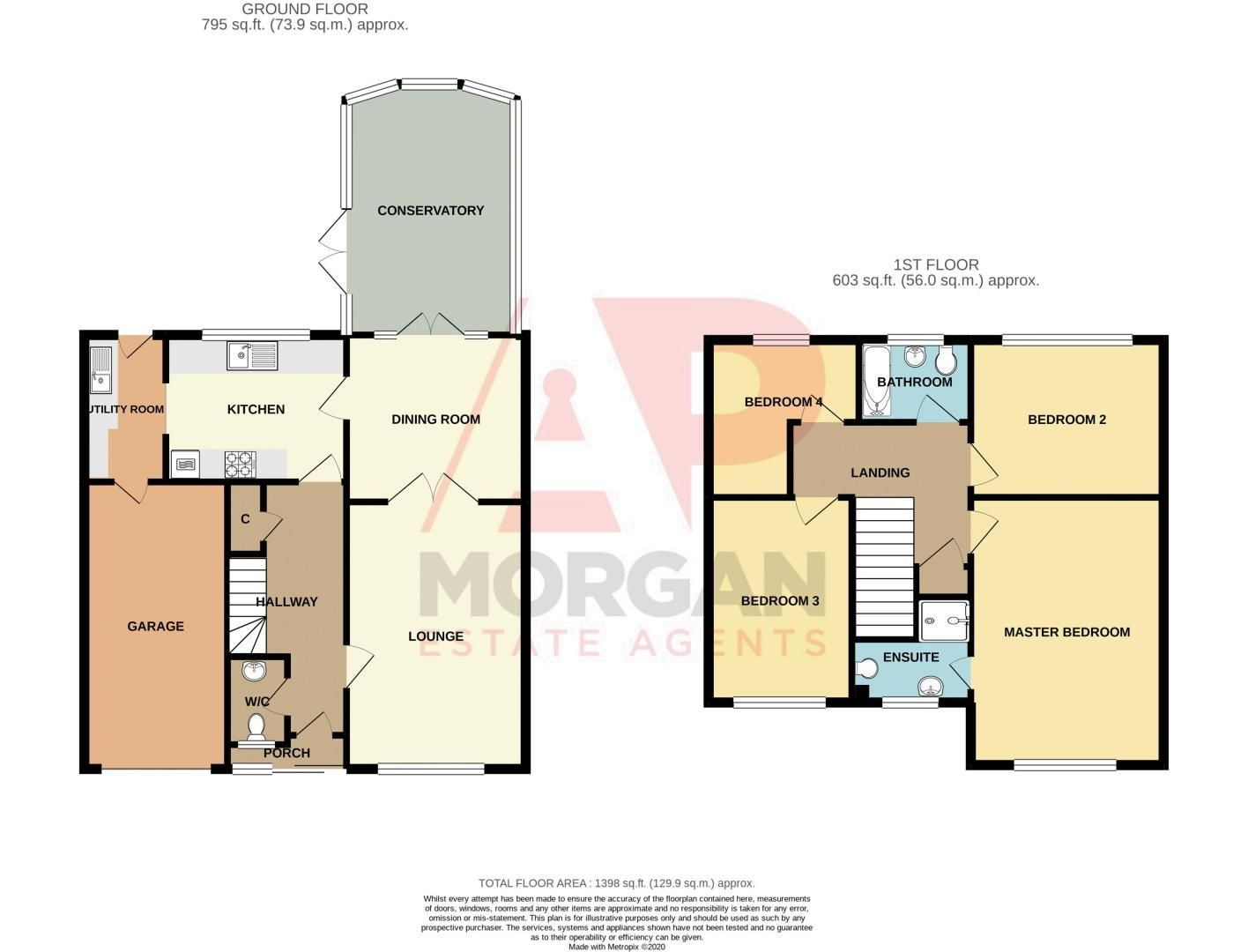 4 bed house for sale in Poplar Close - Property Floorplan