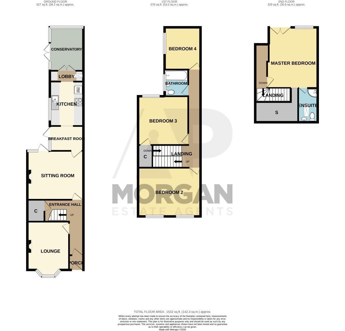 4 bed house for sale in Clark Street - Property Floorplan