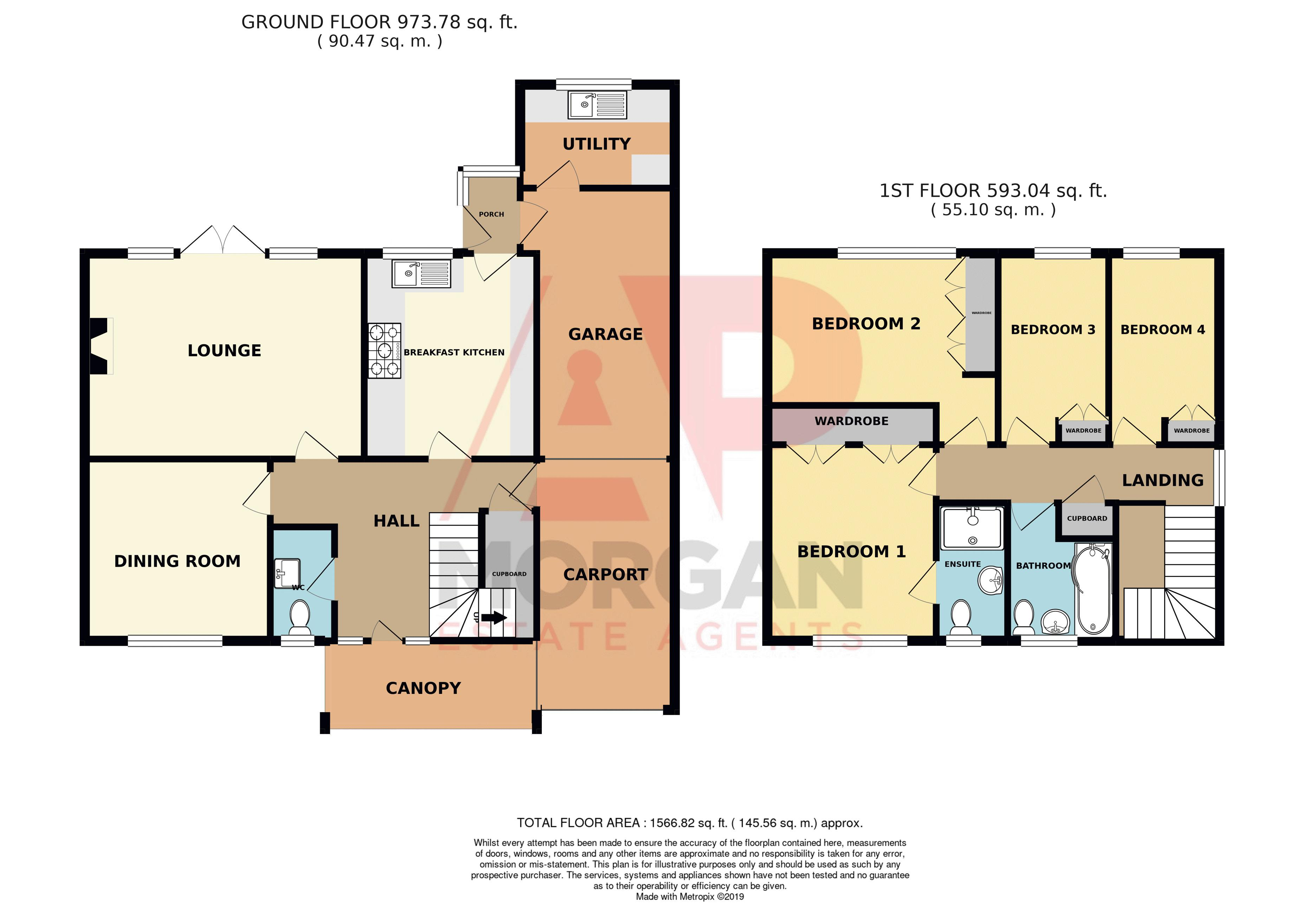 4 bed house for sale in Joyberry Drive - Property Floorplan