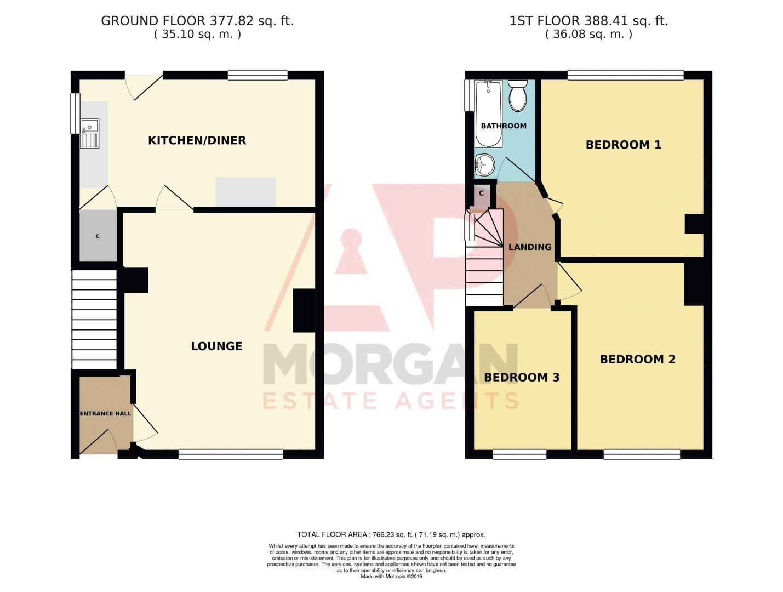 3 bed house for sale in Harport Road - Property Floorplan