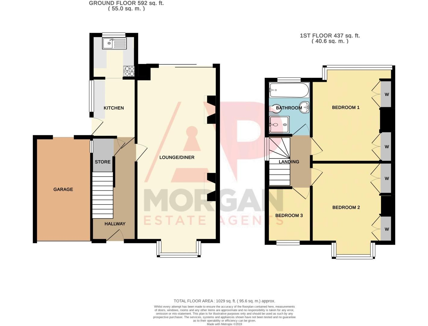 3 bed house for sale in Cradley Road - Property Floorplan