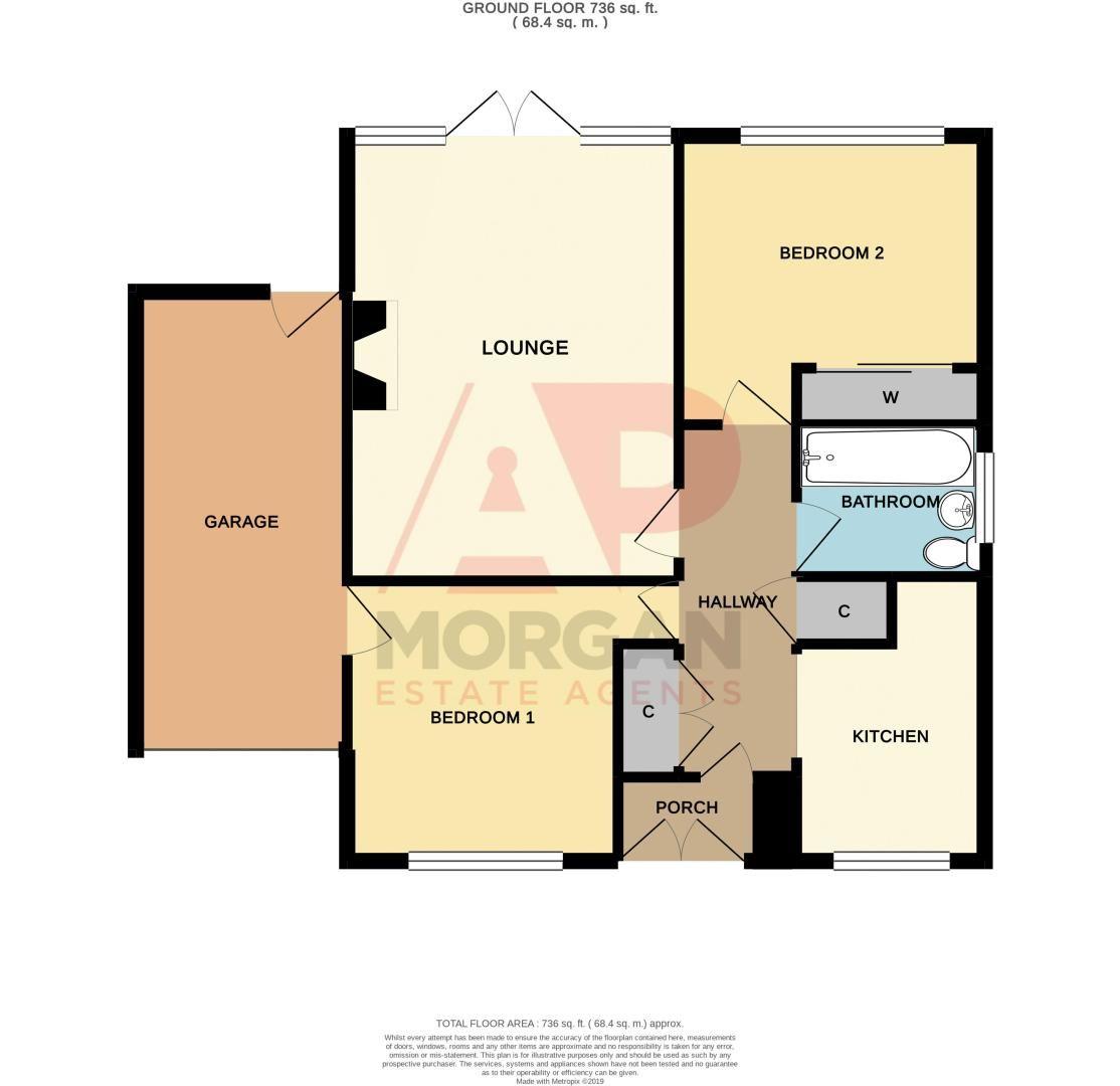 2 bed bungalow for sale in Apperley Way - Property Floorplan