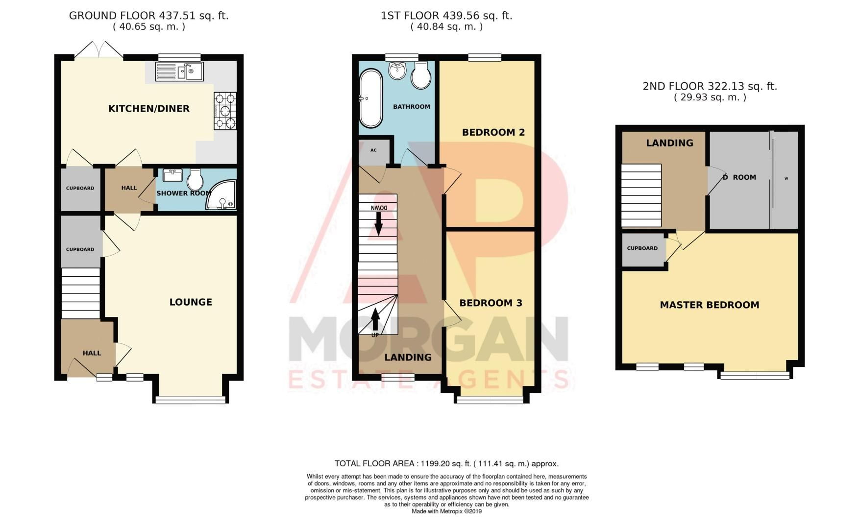 3 bed house for sale in Arlingham Avenue - Property Floorplan