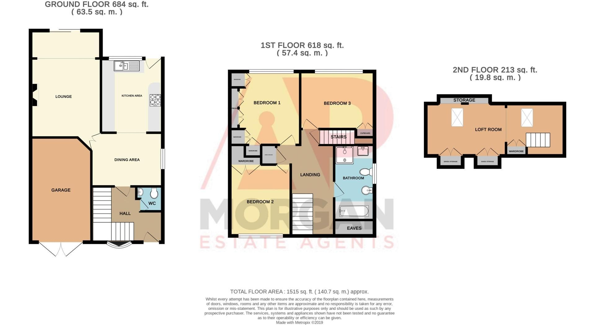 3 bed house for sale in Blackberry Lane - Property Floorplan
