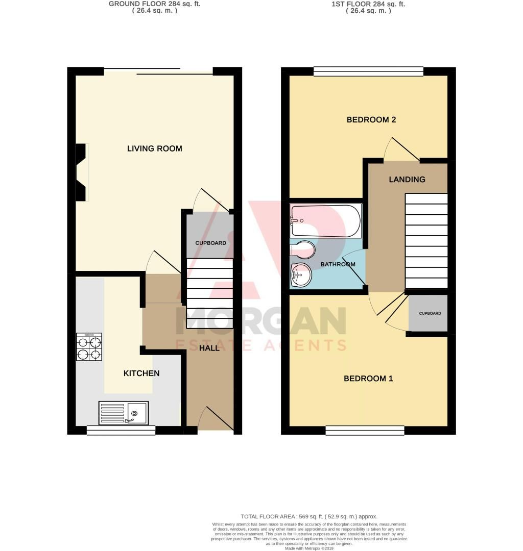 2 bed house for sale in Hammersley Close - Property Floorplan