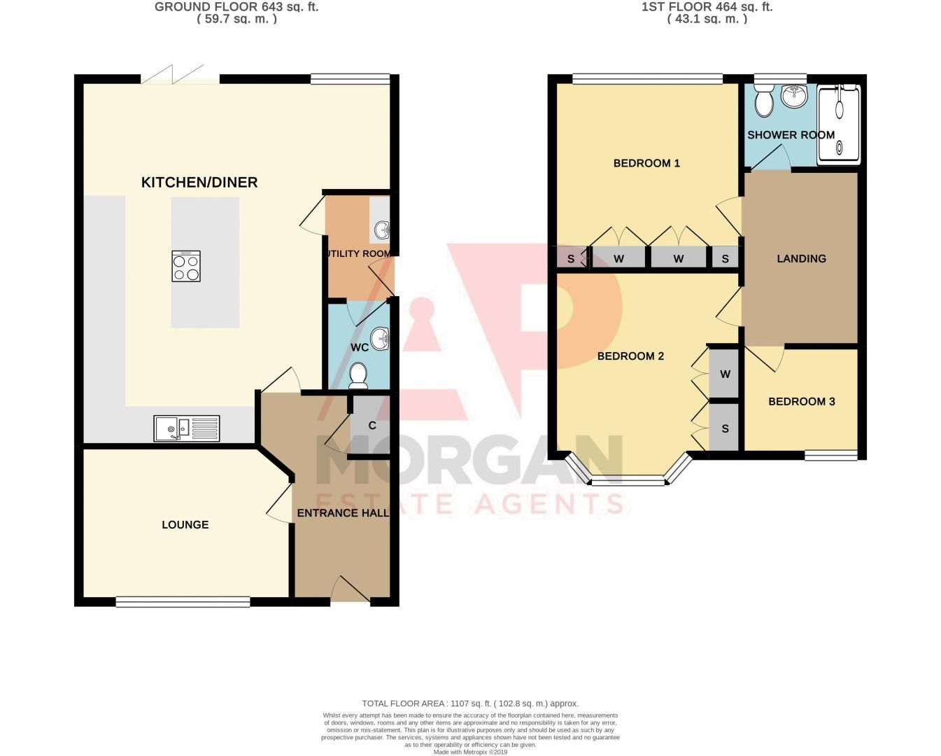 3 bed house for sale in Oldbury Road - Property Floorplan