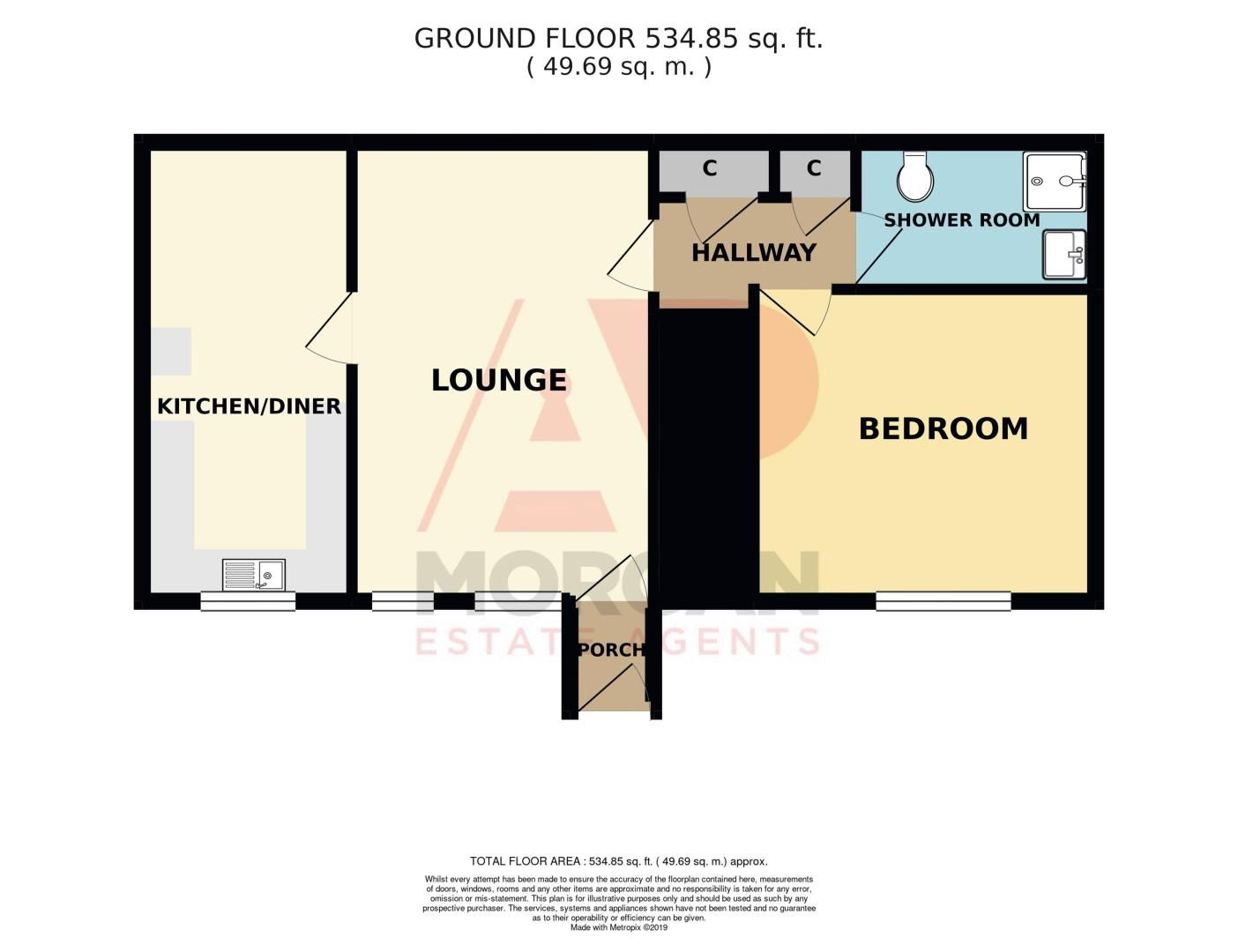 1 bed  for sale in Gordon Crescent - Property Floorplan