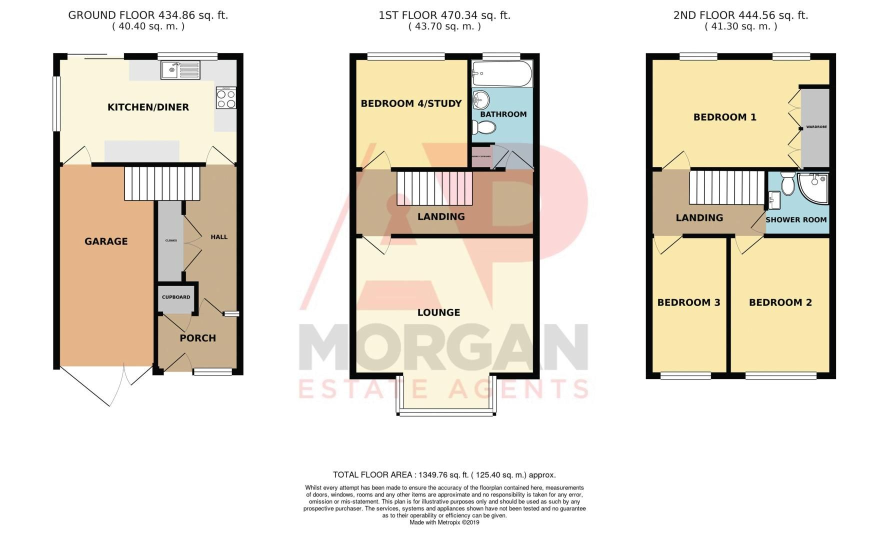 3 bed house for sale in Abberton Close - Property Floorplan