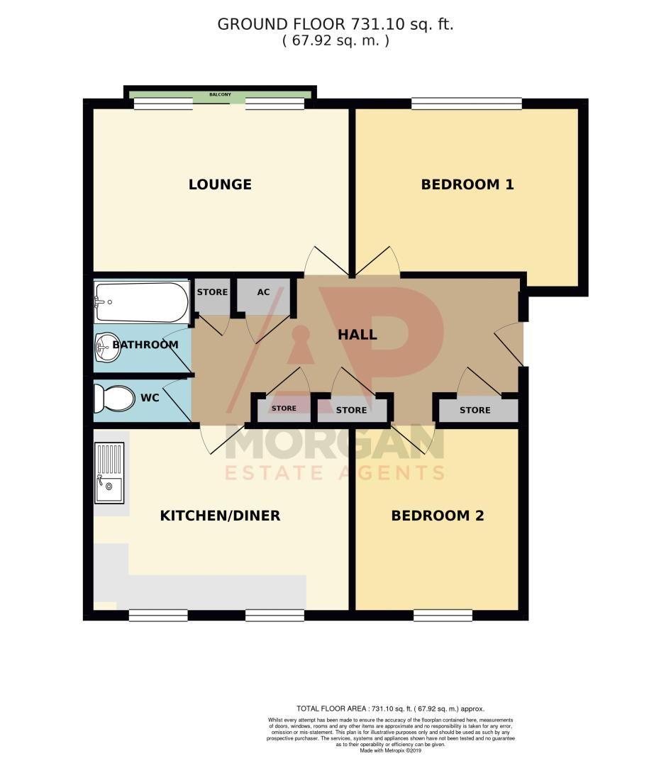 2 bed flat for sale in Lingen Close - Property Floorplan