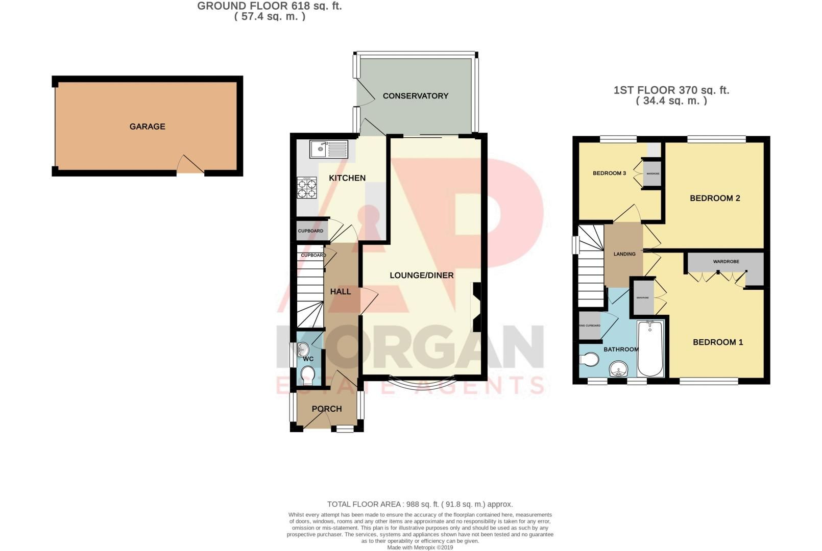 3 bed house for sale in Lodgefield Road - Property Floorplan