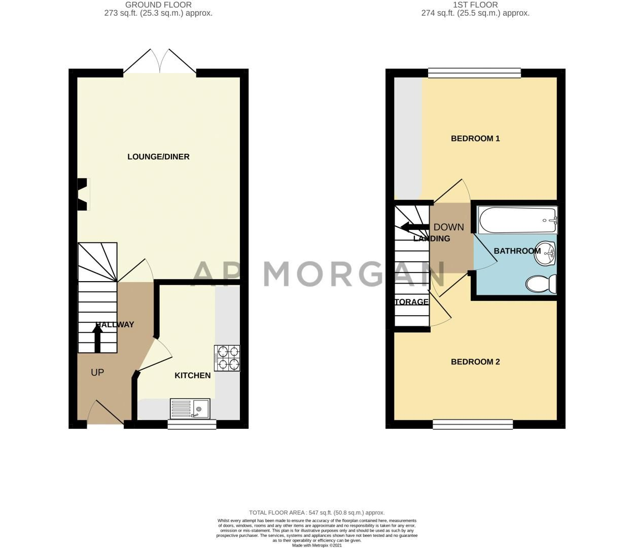 2 bed house for sale in Richardson Drive - Property Floorplan