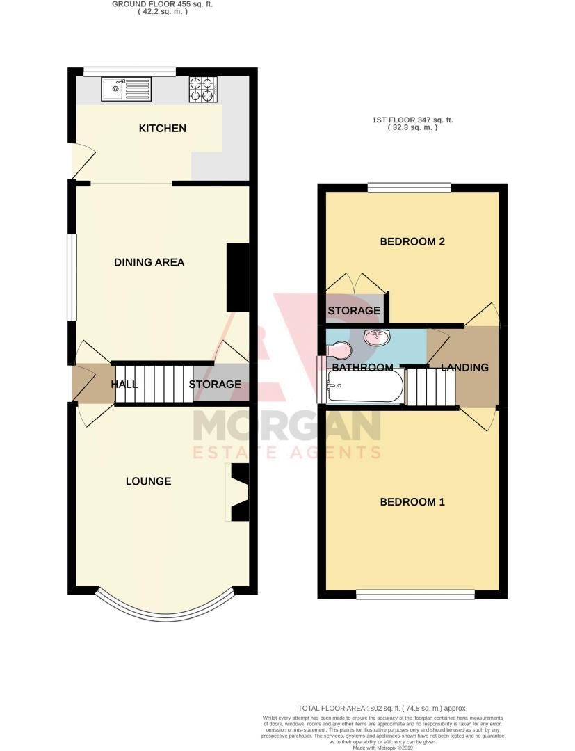 2 bed house for sale in Lyndhurst Drive - Property Floorplan