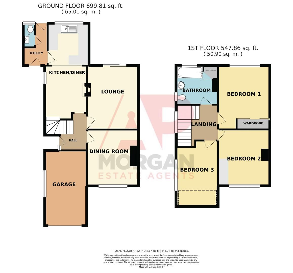 3 bed house for sale in Oakenshaw Road - Property Floorplan