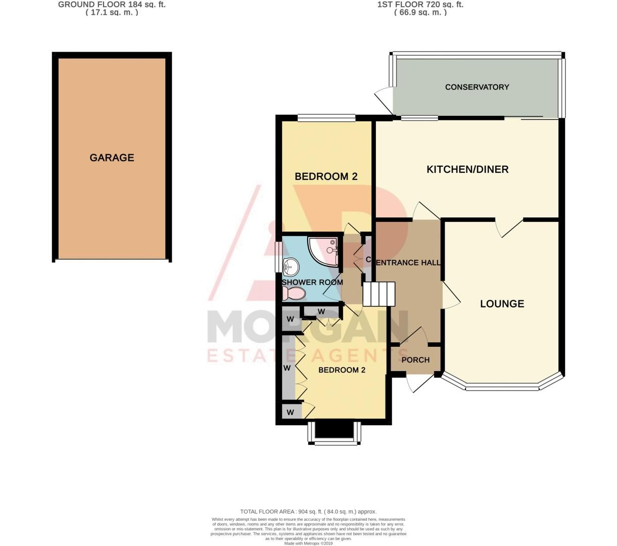2 bed bungalow for sale in Brades Close - Property Floorplan
