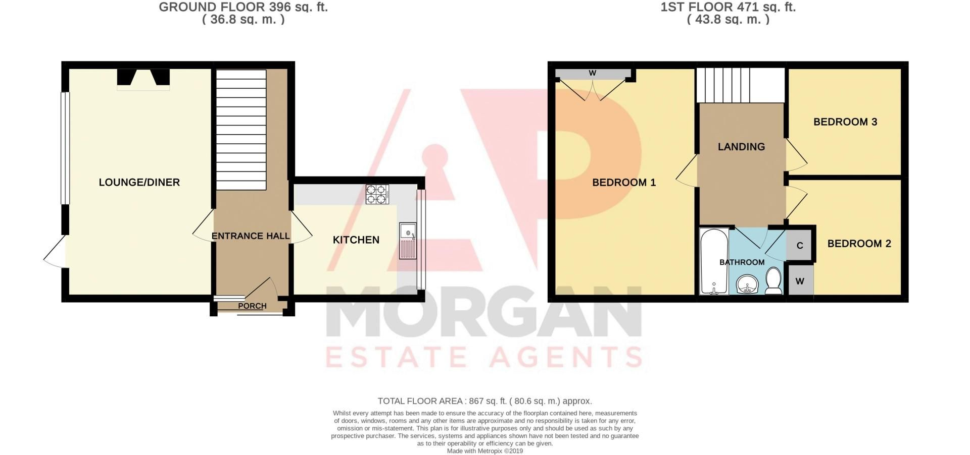 3 bed house for sale in Spring Street - Property Floorplan