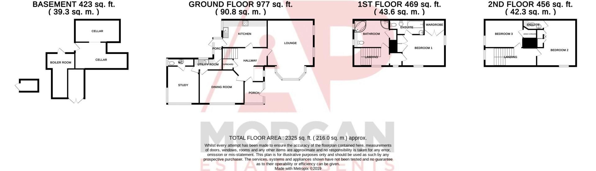 3 bed house for sale in Woodrow Lane - Property Floorplan