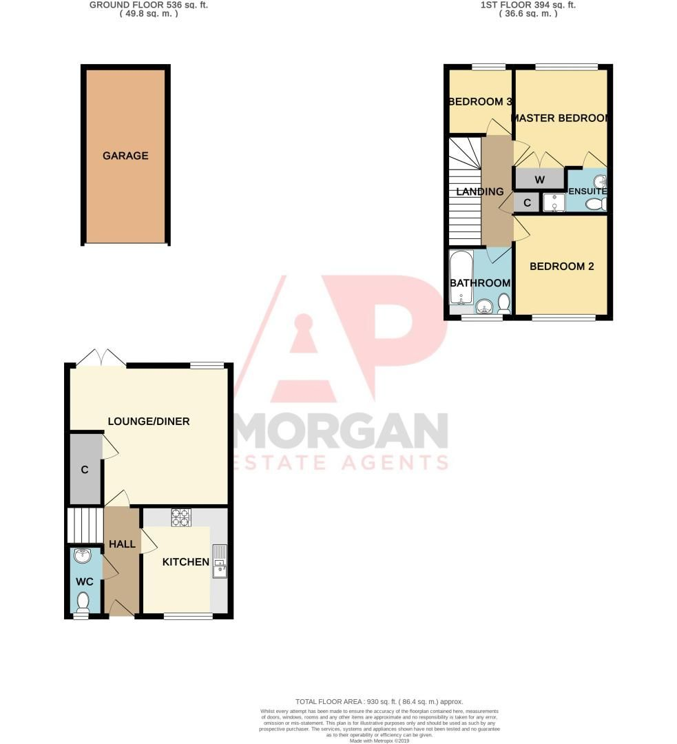 3 bed house for sale in Brett Young Close - Property Floorplan
