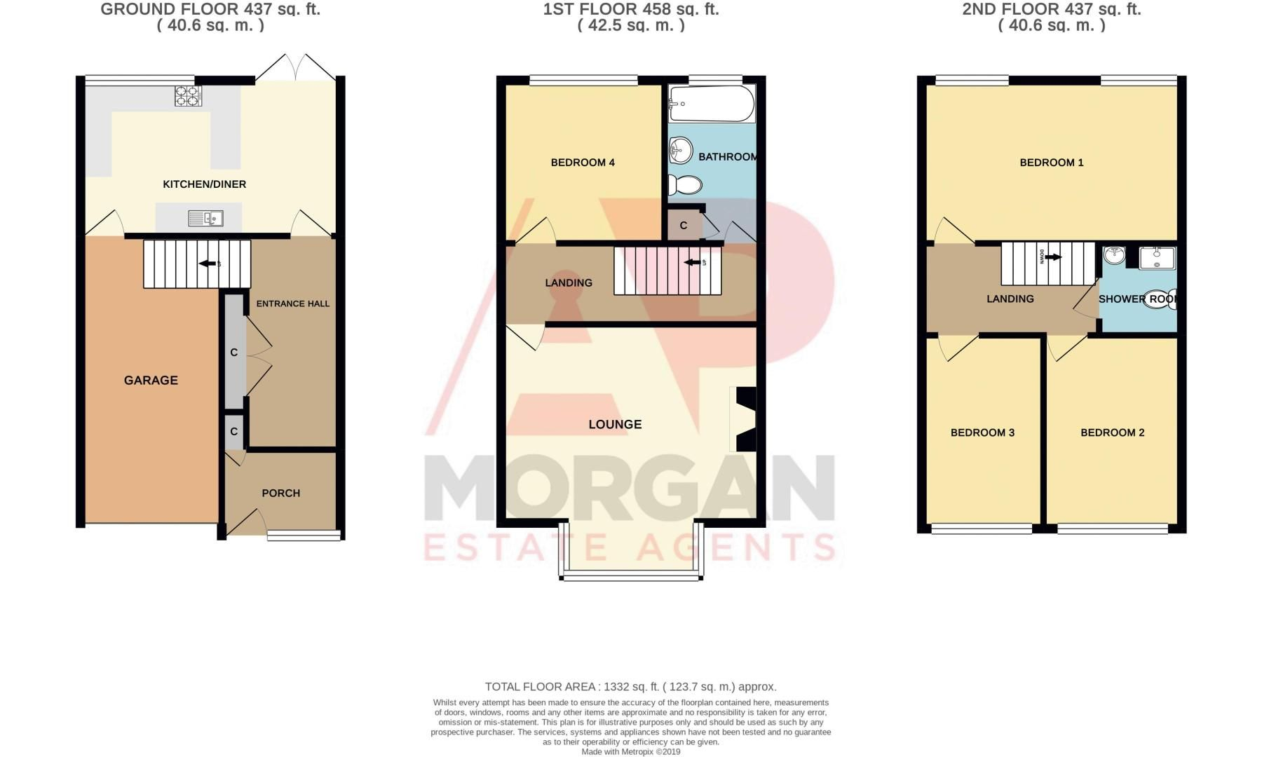 4 bed house for sale in Abberton Close - Property Floorplan