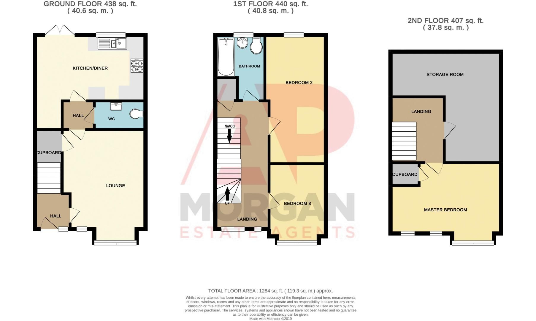 3 bed house for sale in Blakeney Drive - Property Floorplan