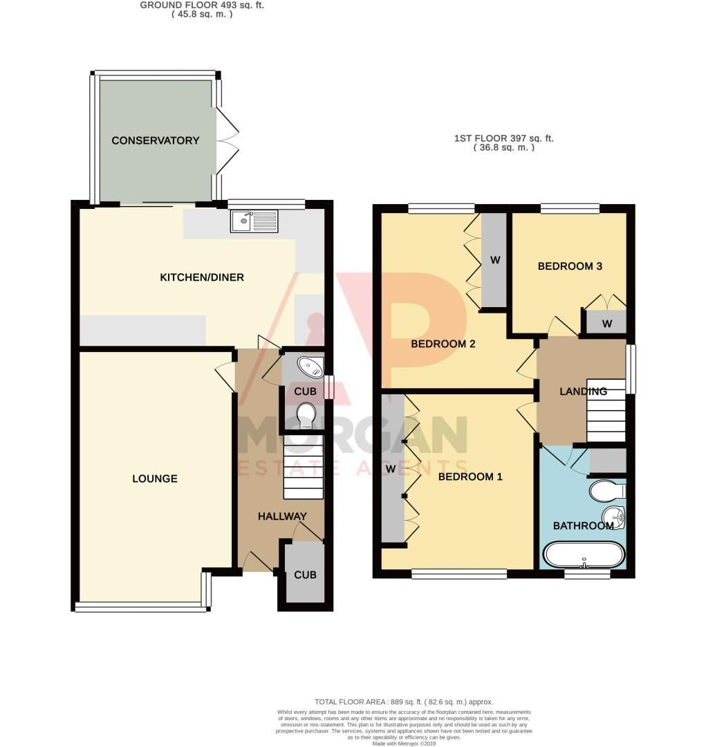 3 bed house for sale in Fox Lane - Property Floorplan