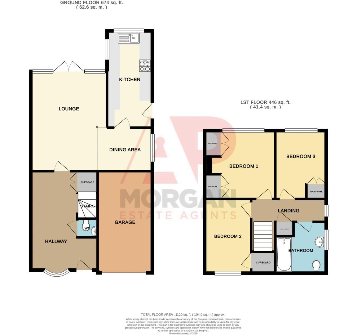 3 bed house for sale in Honeybourne Road - Property Floorplan