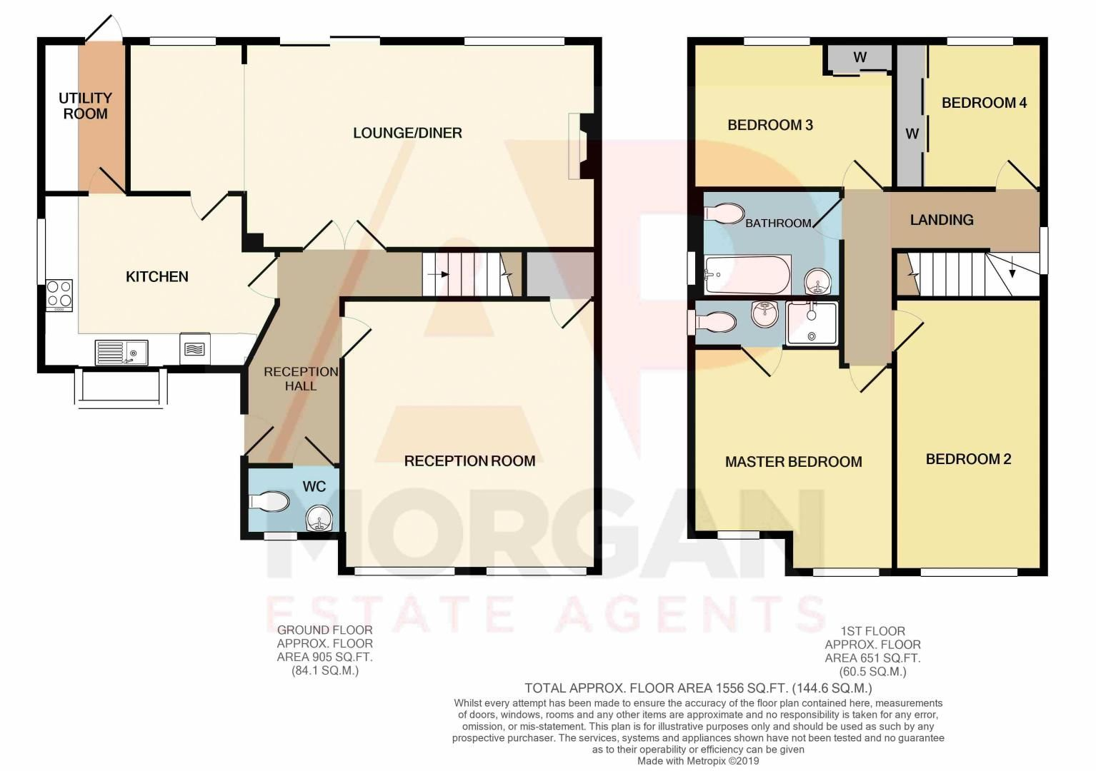 4 bed house for sale in Beckett Close - Property Floorplan