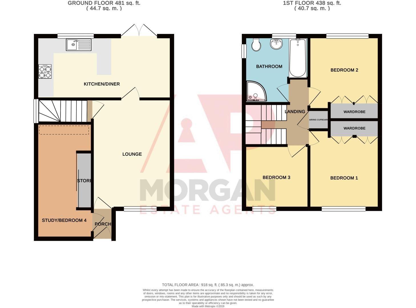 3 bed house for sale in Hambleton Road - Property Floorplan