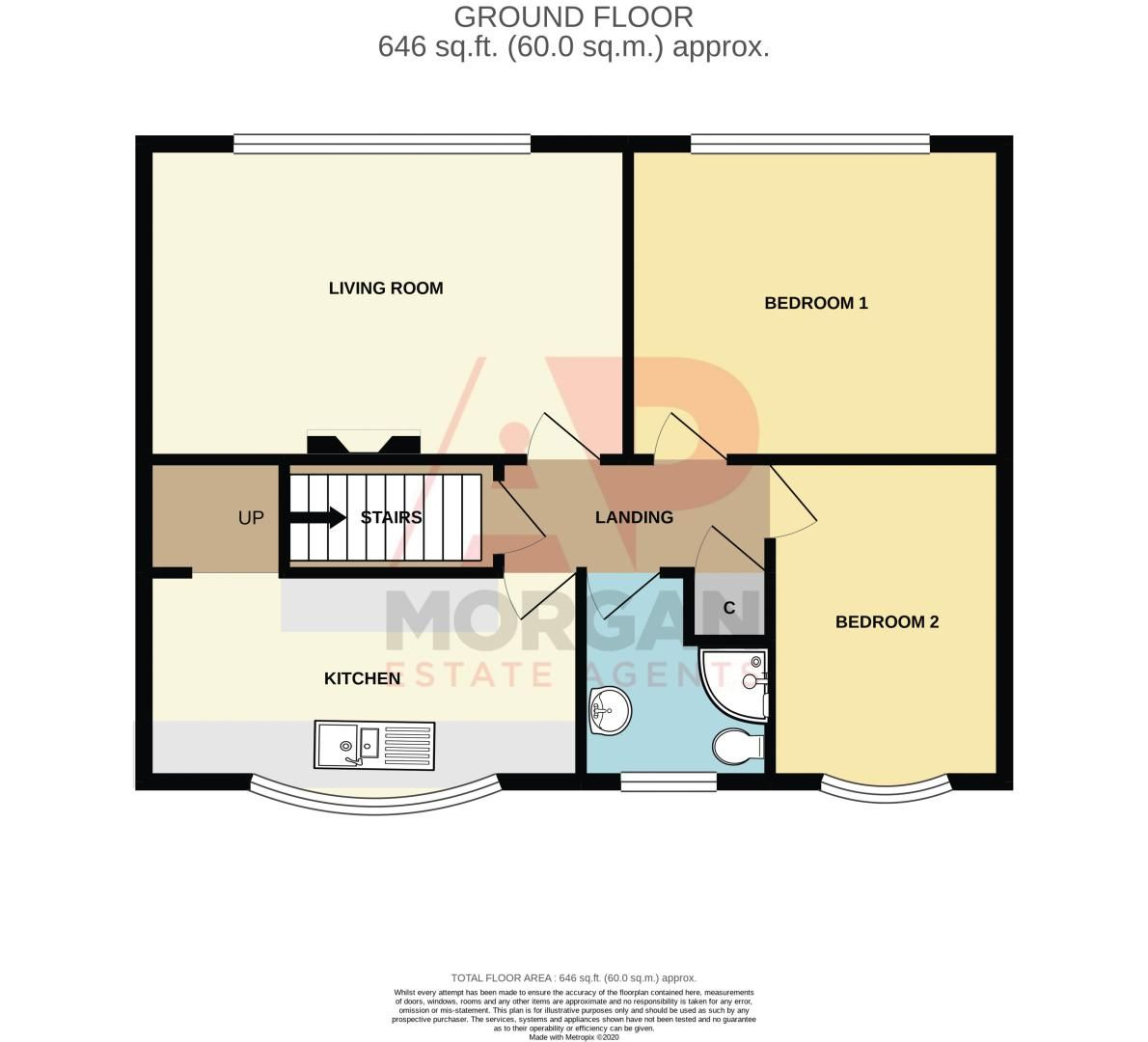 2 bed  for sale in Lords Lane - Property Floorplan