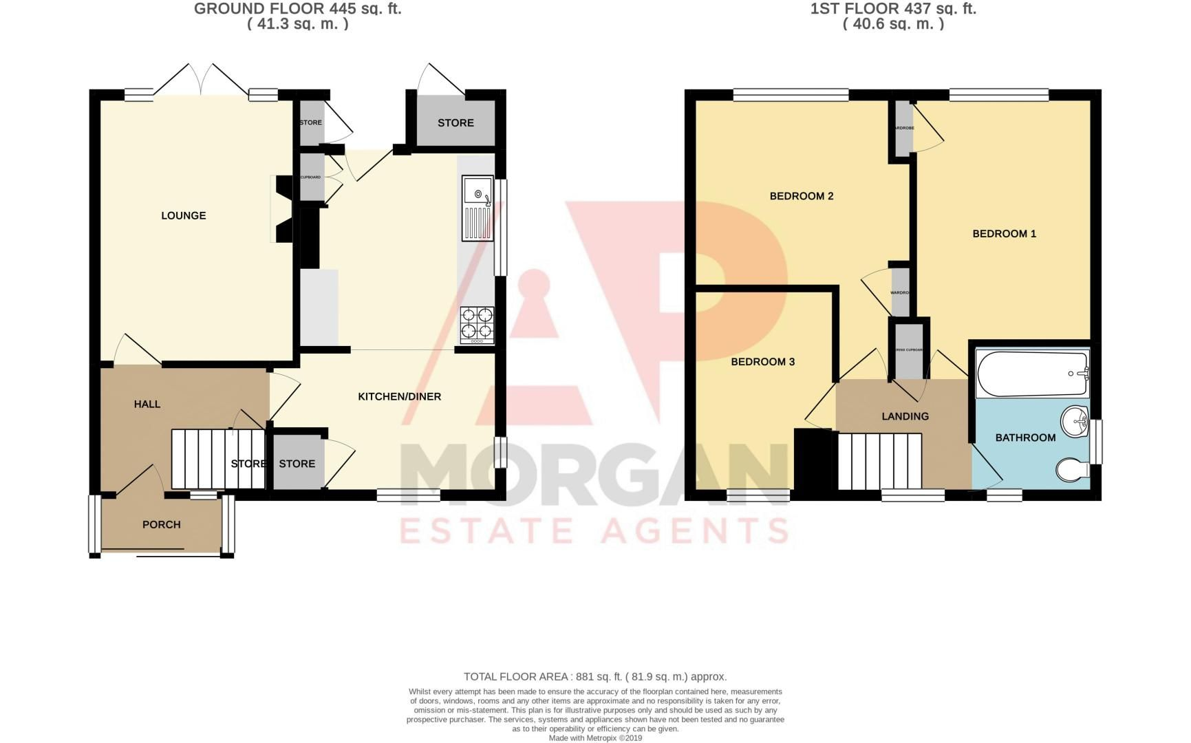 3 bed house for sale in Compton Grove - Property Floorplan