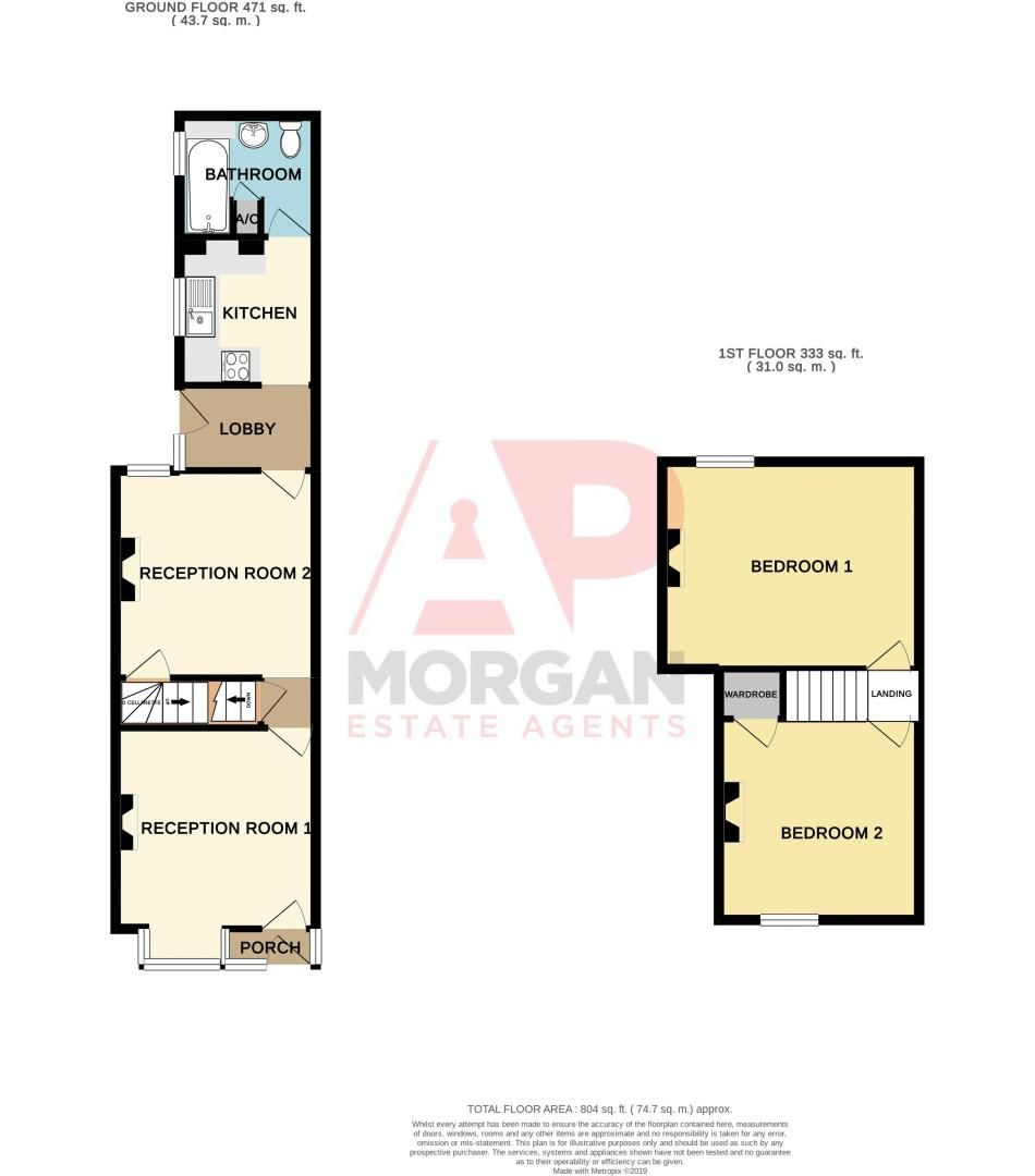 2 bed house for sale in Highfield Road - Property Floorplan