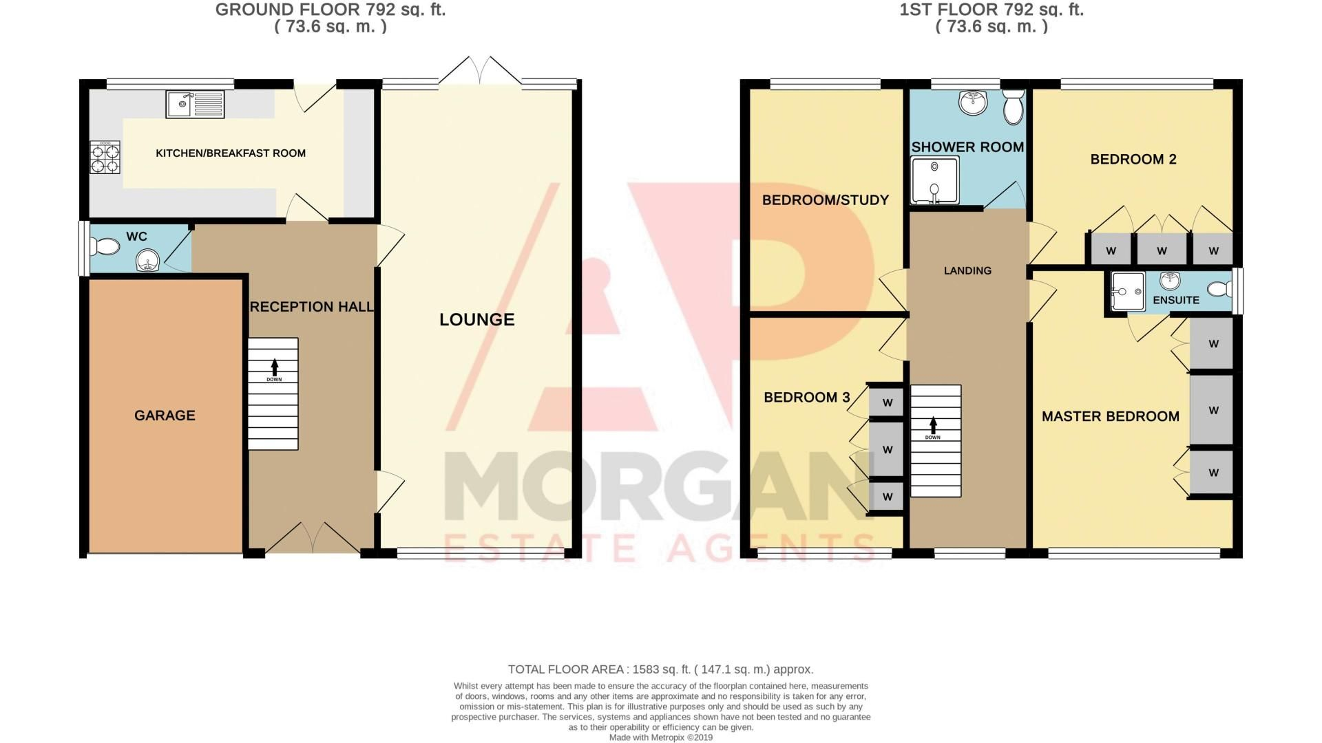 4 bed house for sale in Hill Top Avenue - Property Floorplan