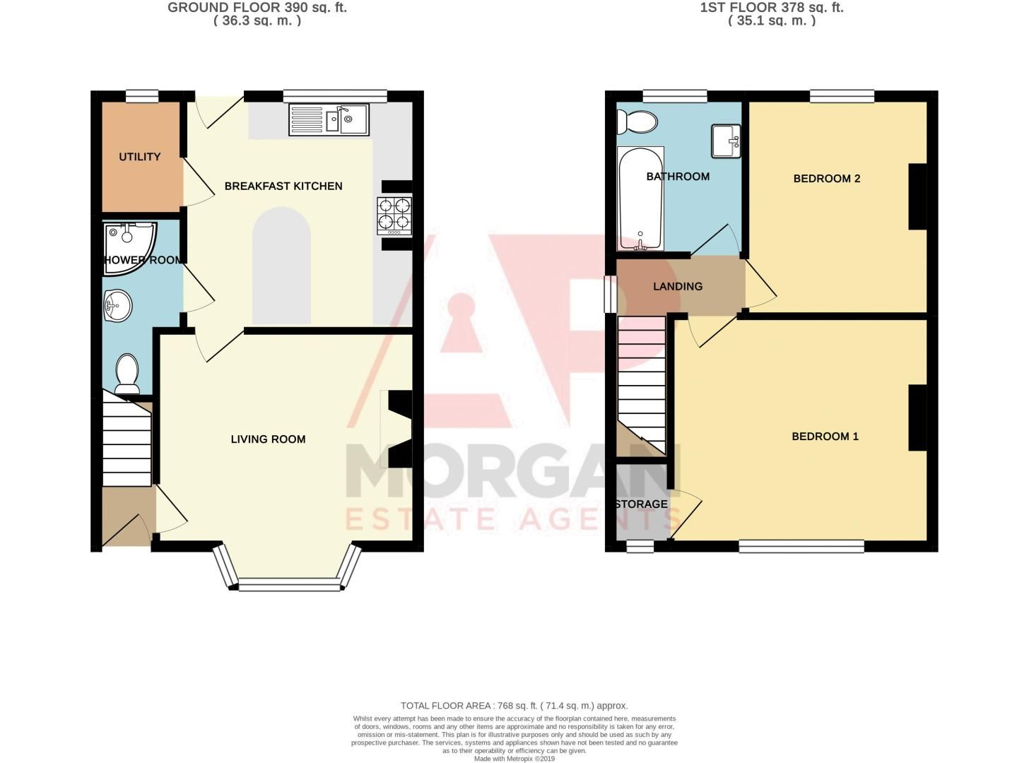 2 bed house for sale in Barnsley Road - Property Floorplan