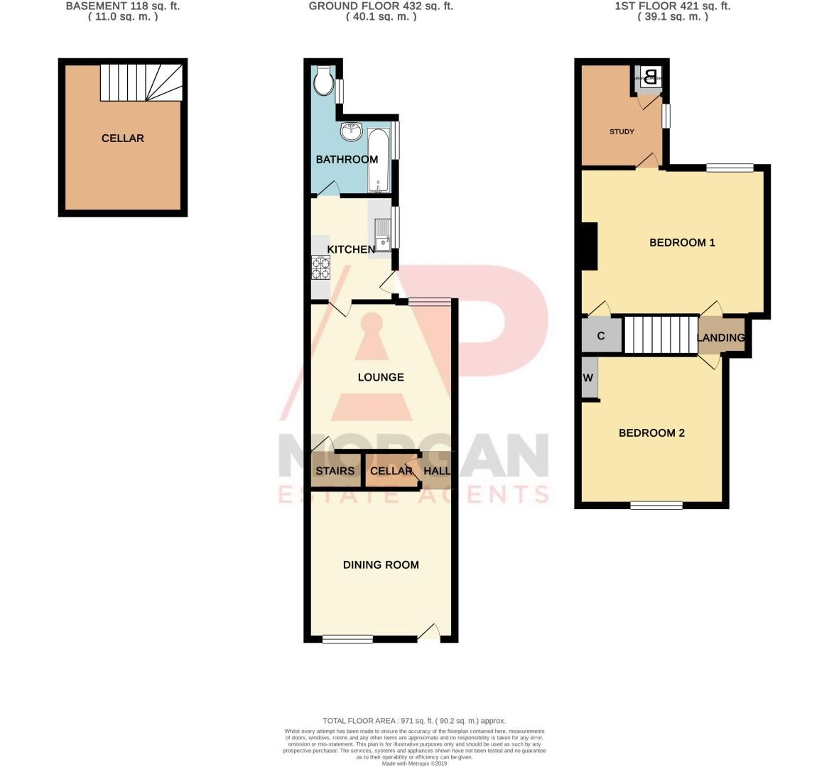 2 bed house for sale in Sidaway Street - Property Floorplan
