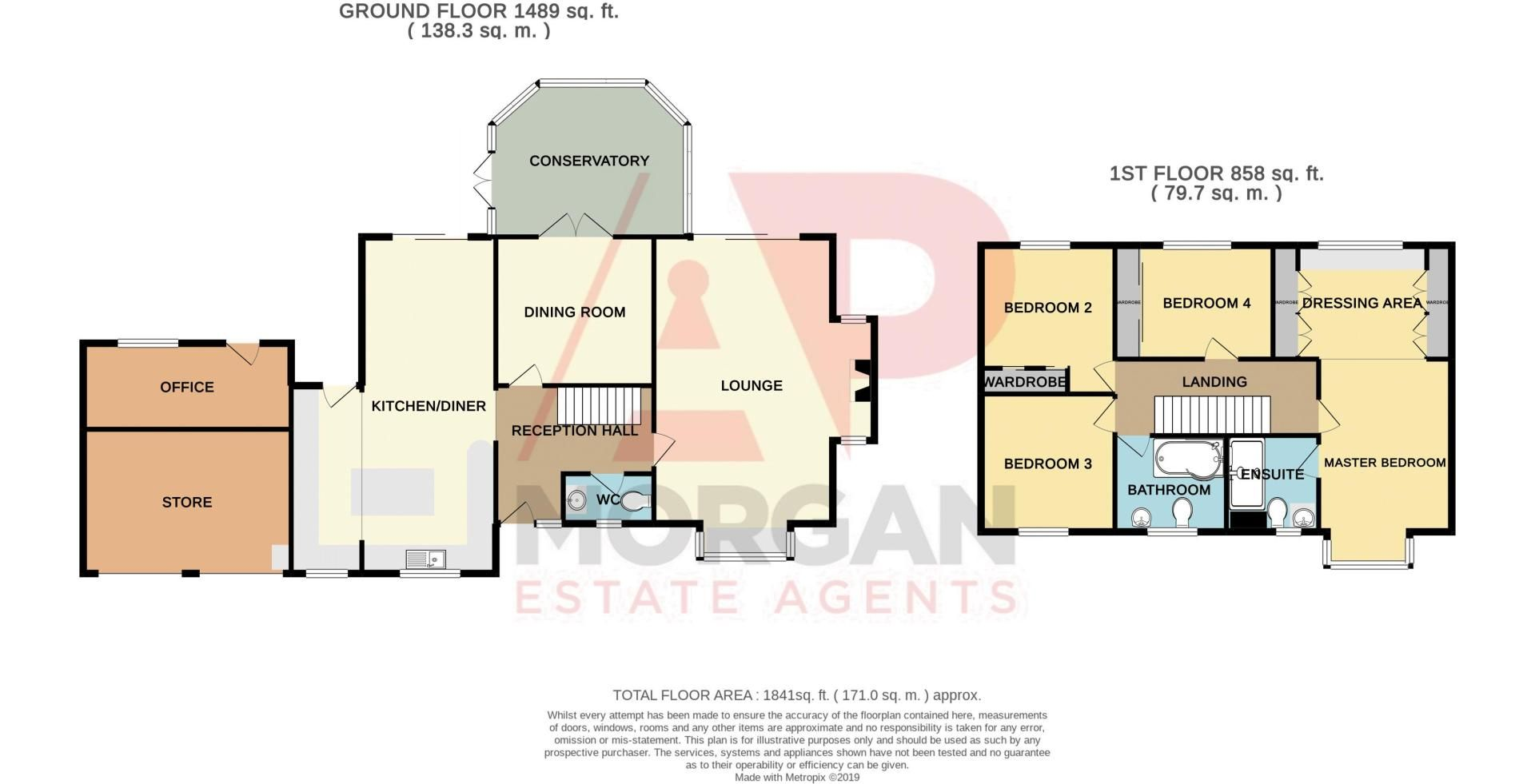4 bed house for sale in Chesterton Close - Property Floorplan