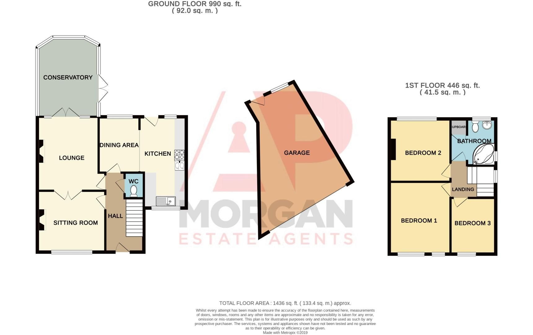 3 bed house for sale in Huntingtree Road - Property Floorplan