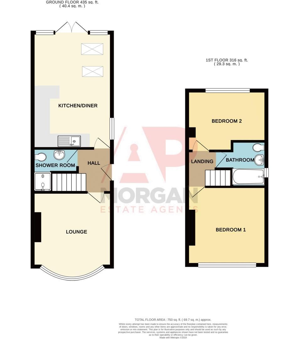 2 bed house for sale in Crabourne Road - Property Floorplan