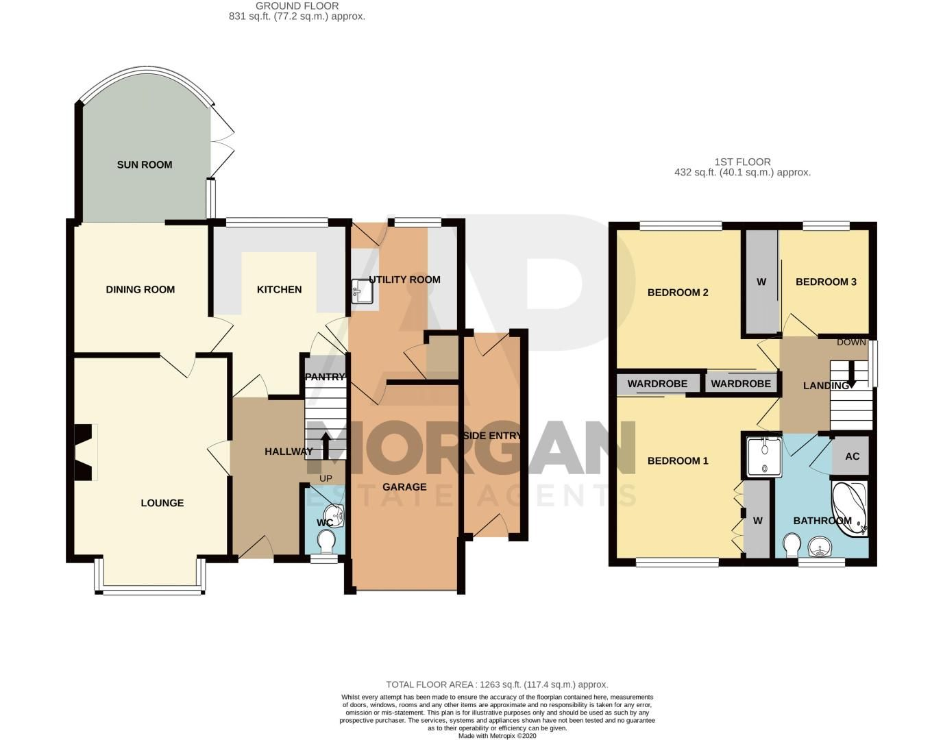 3 bed house for sale in Tythe Barn Close - Property Floorplan