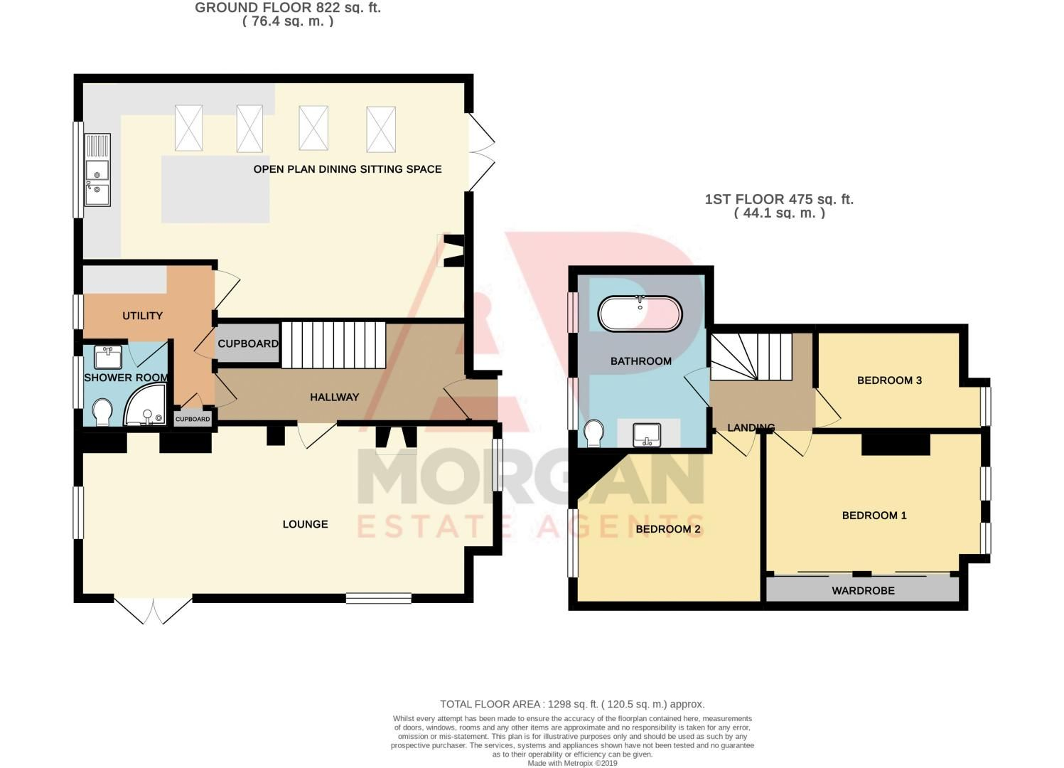 3 bed house for sale in Longhope Close - Property Floorplan