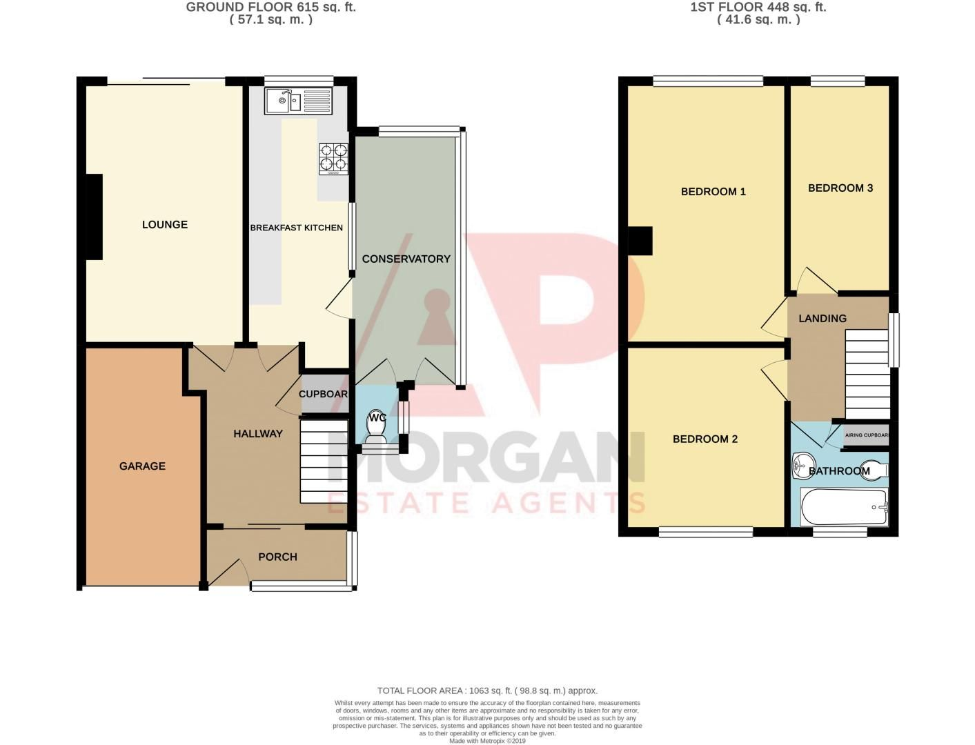 3 bed house for sale in Little Acre - Property Floorplan