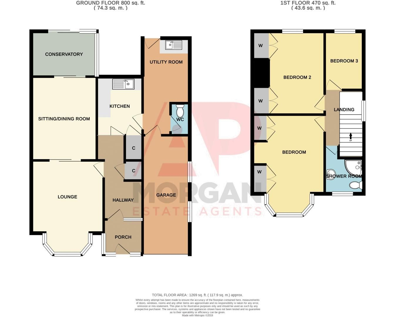 3 bed house for sale in Raddens Road - Property Floorplan