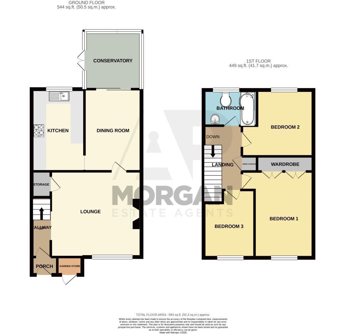 3 bed house for sale in Pennine Road - Property Floorplan
