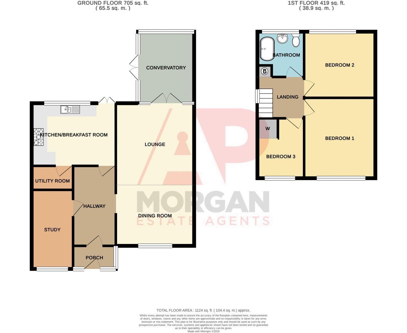 3 bed house for sale in Bournebrook Crescent - Property Floorplan