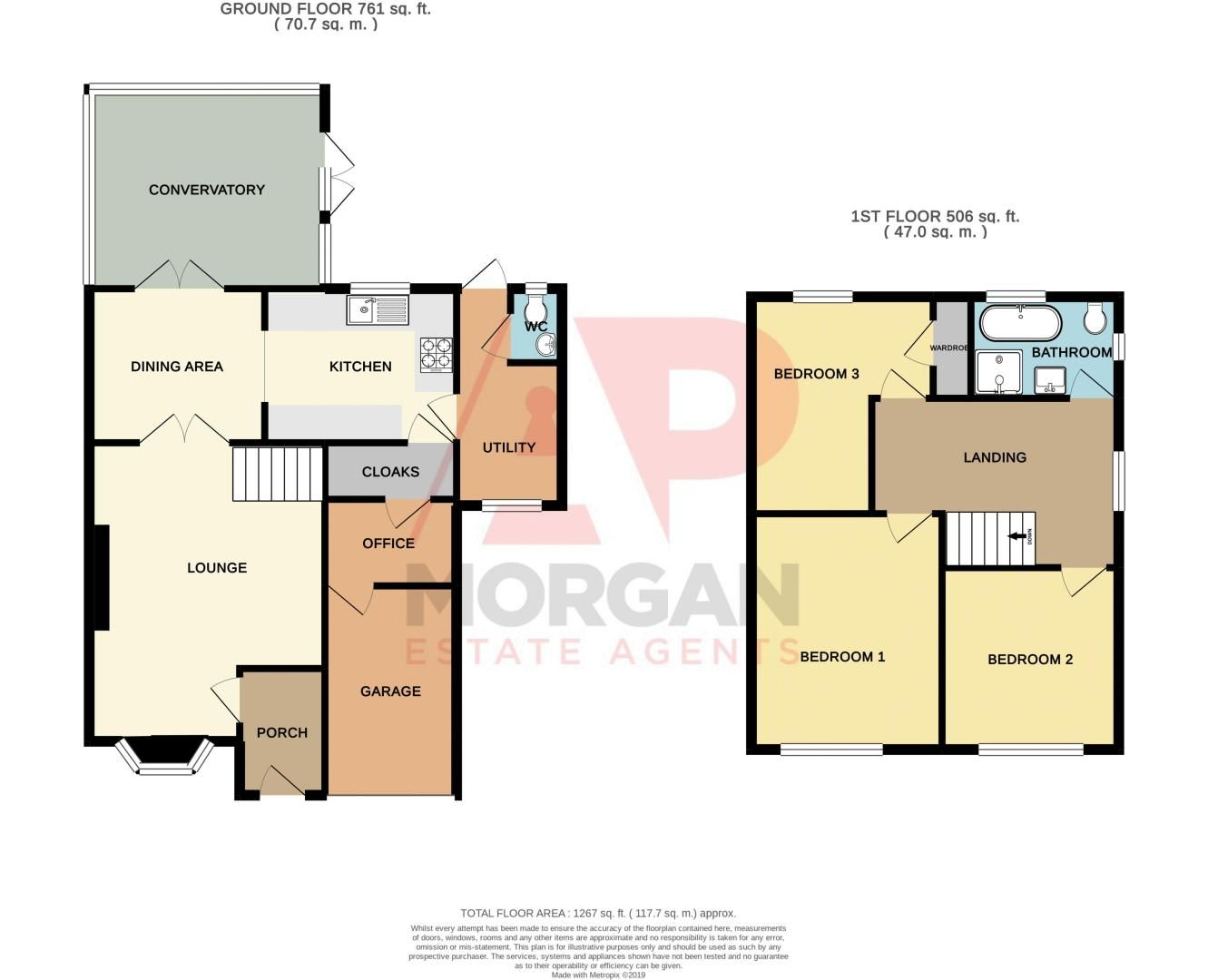 3 bed house for sale in Nottingham Way - Property Floorplan