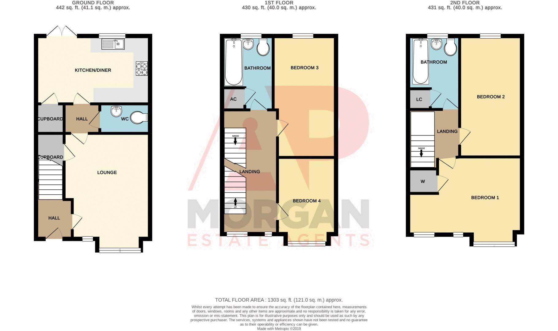 4 bed house for sale in Arlingham Avenue - Property Floorplan