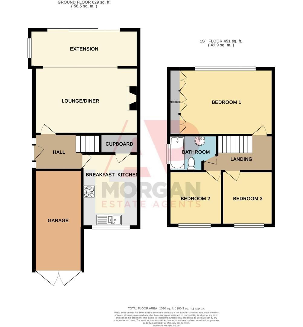 3 bed house for sale in Leavale Road - Property Floorplan