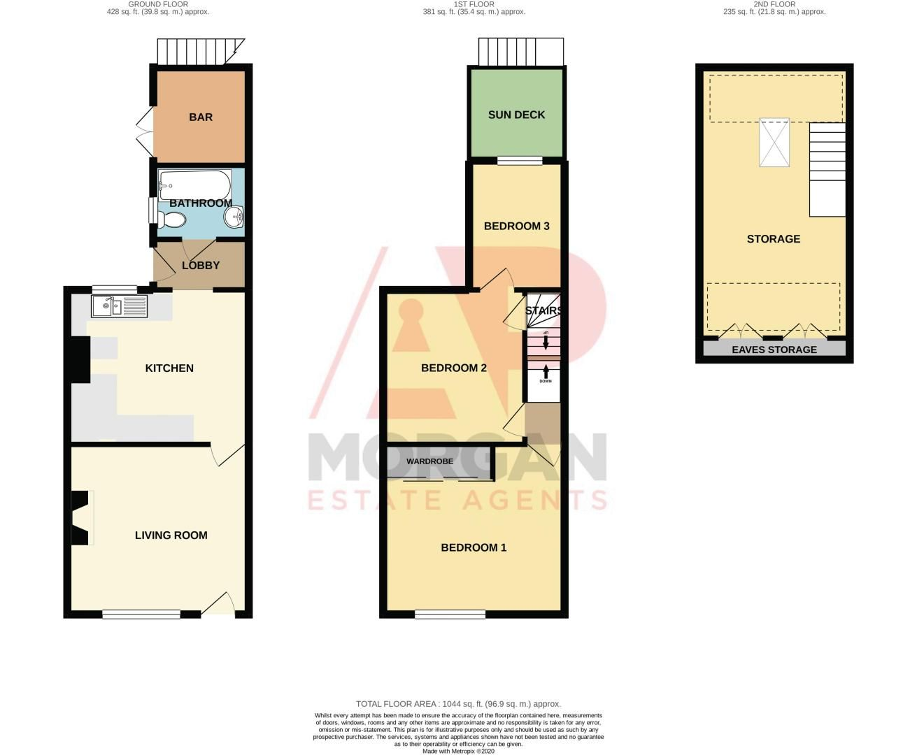3 bed house for sale in All Saints Road - Property Floorplan