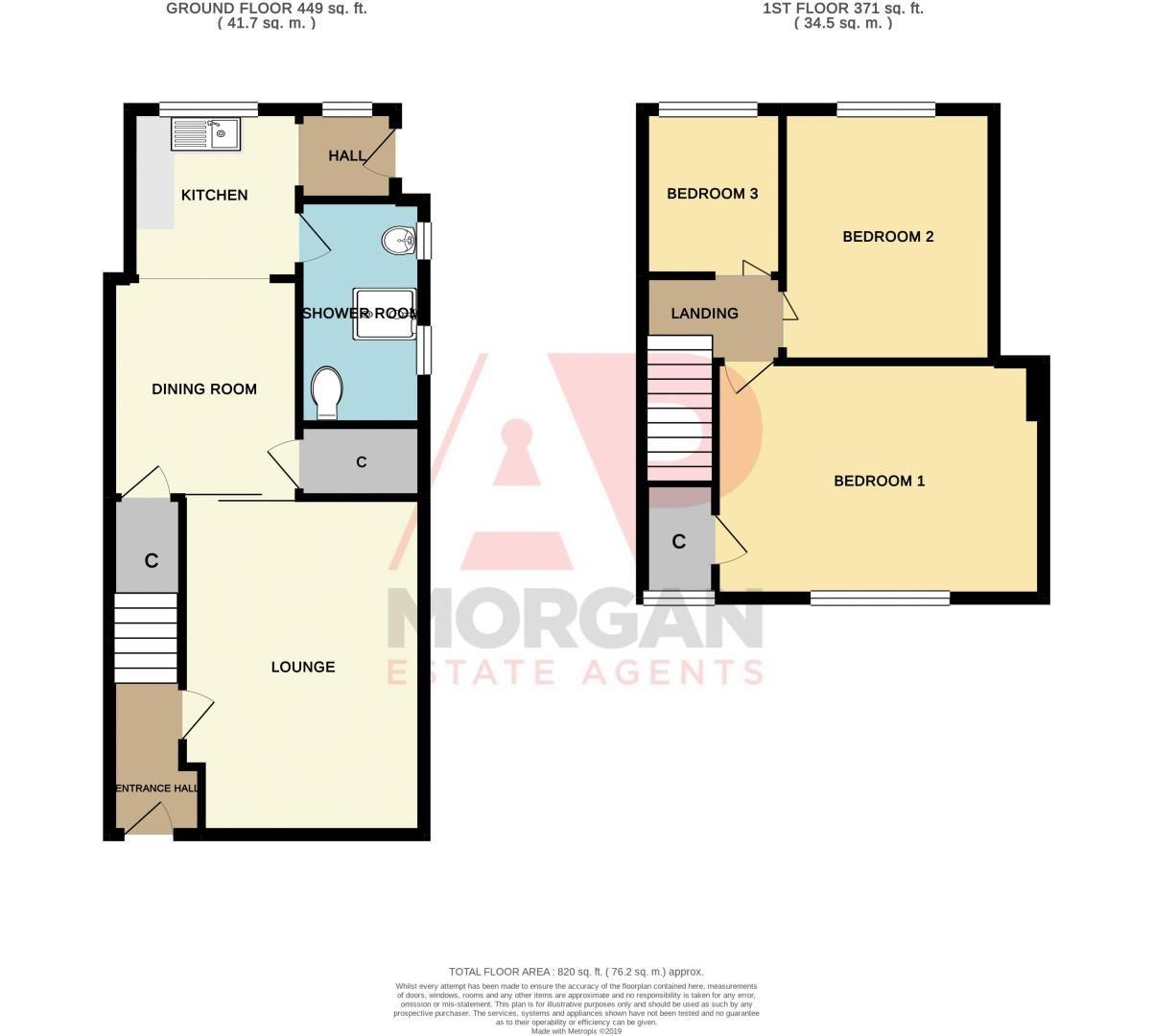 3 bed house for sale in Sunbury Road - Property Floorplan
