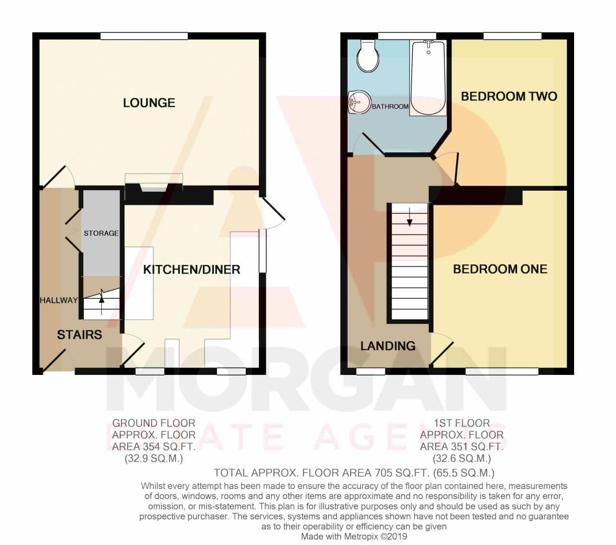 2 bed house for sale in Holcroft Road - Property Floorplan