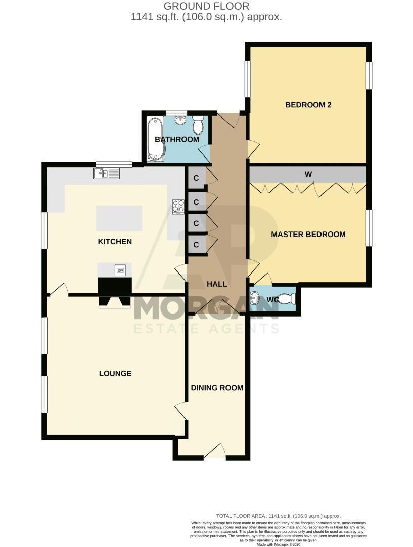 2 bed flat for sale in Bridgnorth Road - Property Floorplan